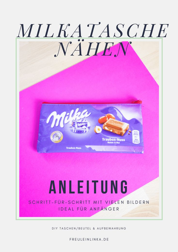 Anleitung: Reißverschlusstasche aus Milka Schokopapier nähen