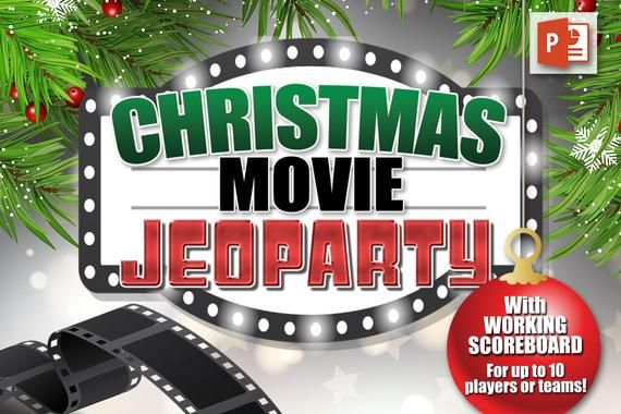 Christmas Movie Jeoparty Powerpoint Game W Scoreboard Pc Etsy Christmas Movies Holiday Facts Powerpoint Games