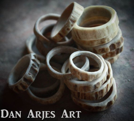Antler Rings by TheAntlerArtisan on Etsy, $20.00