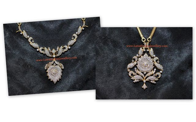 diamond necklace and pendant