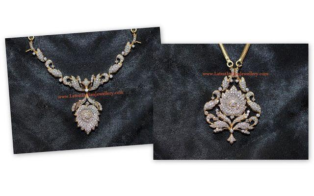diamond necklace and pendant