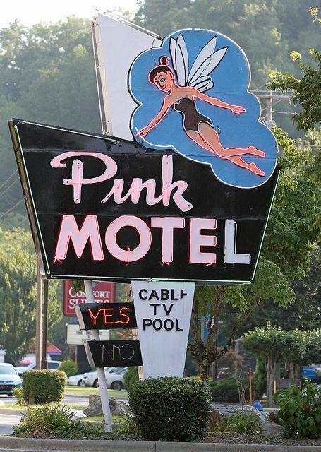Pink Motel.... US 441 near entrance Great Smoky Mountains National Park....Cherokee North Carolina