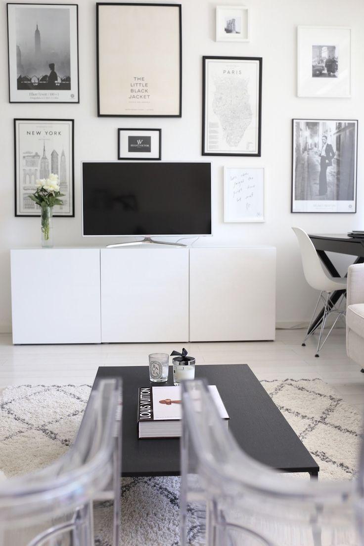 Homevialaura | living room | gallery wall | Ikea Bestå | Ellos Tanger | BoConcept Lugo | Eames DSR