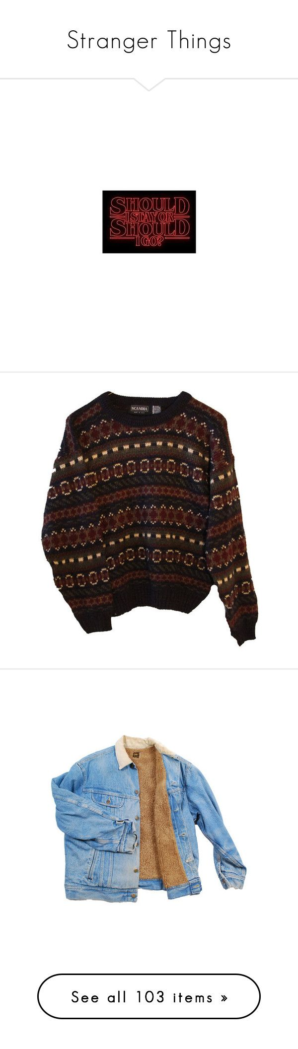 """Stranger Things"" by biancalwez on Polyvore featuring stranger things, tops, sweaters, shirts, jumpers, hipster sweaters, tribal shirts, tribal pattern shirts, fitted tops and tribal print shirts"