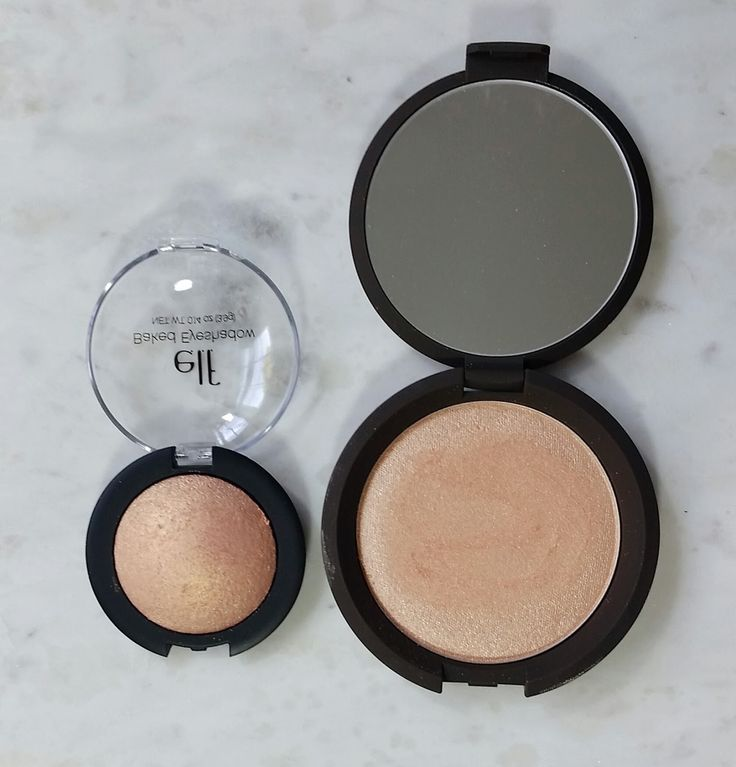 Becca Champagne Pop Dupe! Elf eyeshadow in Enchanted is a total Champagne Pop dupe! Click on the post for swatch comparison.