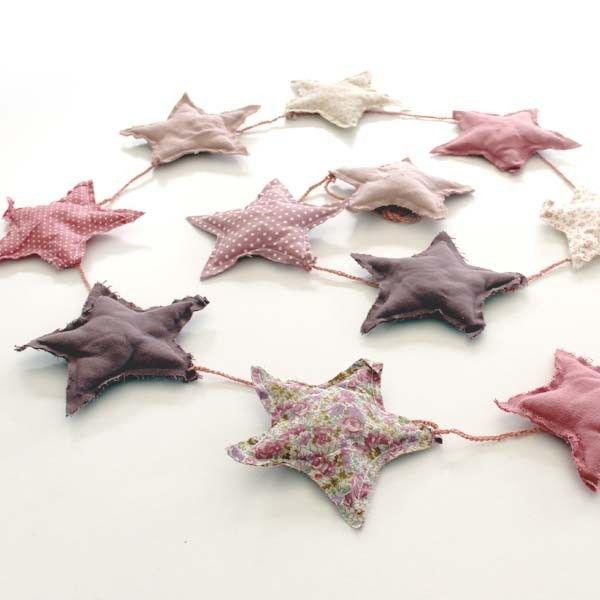 Numero 74 - Fabric stars garland