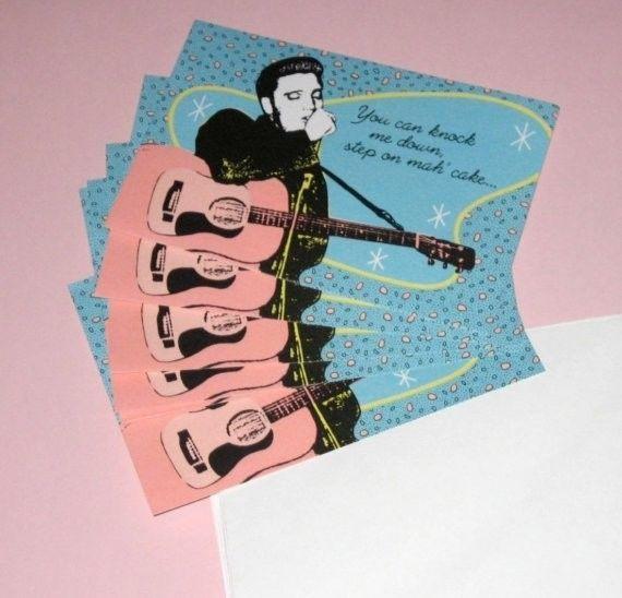 Elvis Presley Blue Suede Shoes Color Text