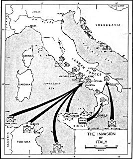 Map Showing The Sites Of The Allied Invasion Of Italy At Calabria 3 September And At Salerno And Taranto On 9 September Us Army Center For Military