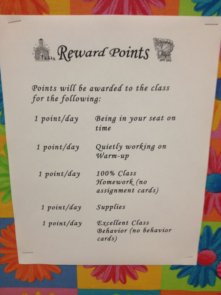 Reward point/system Field Assignment 2 Madison Jr/Sr