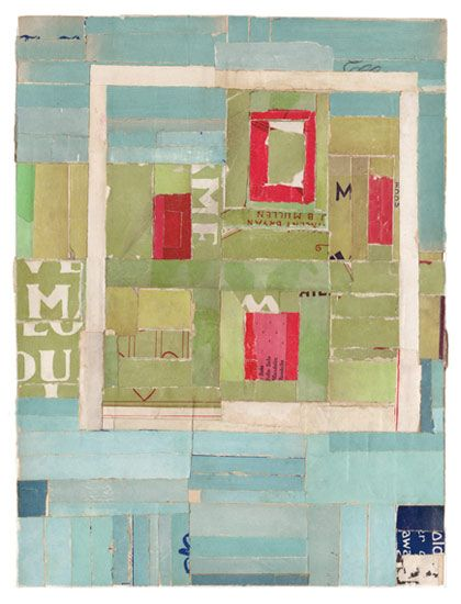 "Lisa Hochstein - Square one • 9"" x 12"" salvaged paper"