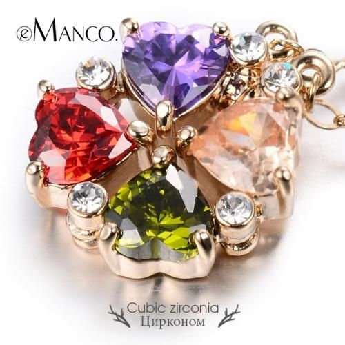 Exquisite Heart Zirconia Pendant Gold Chain Magnetic Necklaces