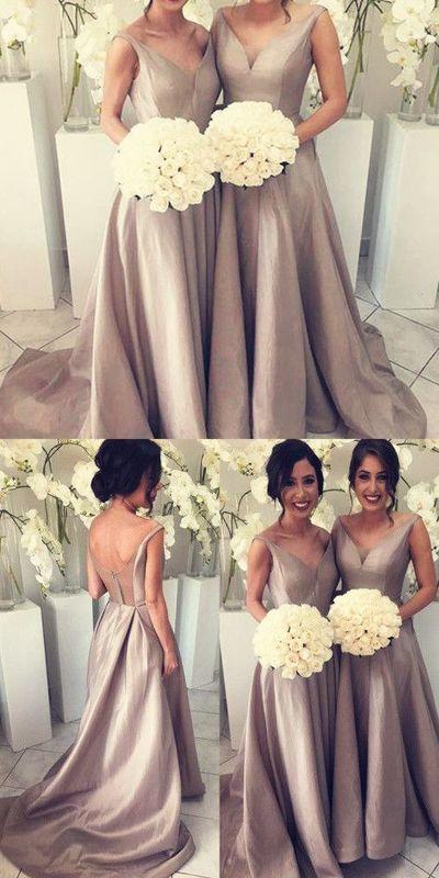 2017 Bridesmaid Dresses,Simple Bridesmaid Dress,Cheap Bridesmaid Dresses,Hot-sale Bridesmaid Dresses, V-neck Bridesmaid Dress, PD00459