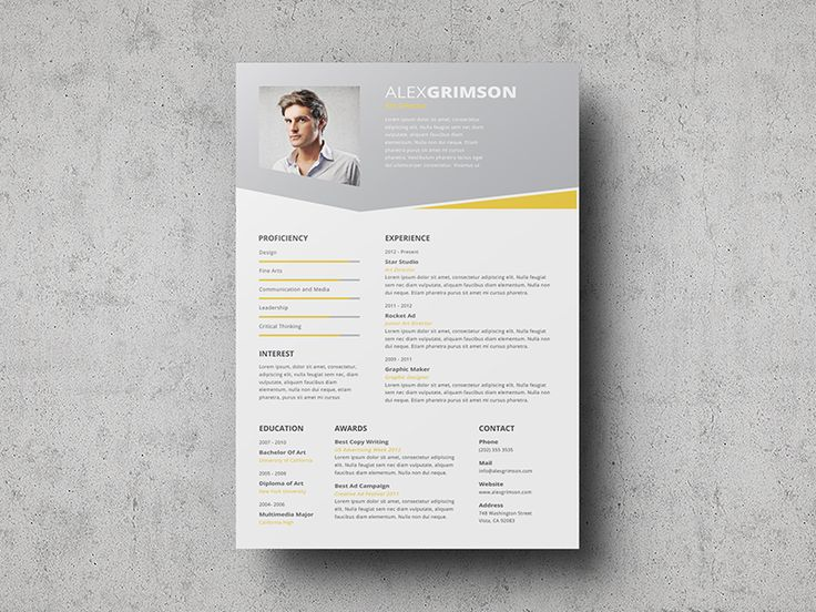 Best Cvs Images On   Resume Design Resume And Resume