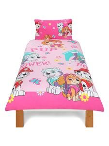 Kids Character Bedding Online: Paw Patrol Pink Single Duvet Cover Set – Novelty-Characters
