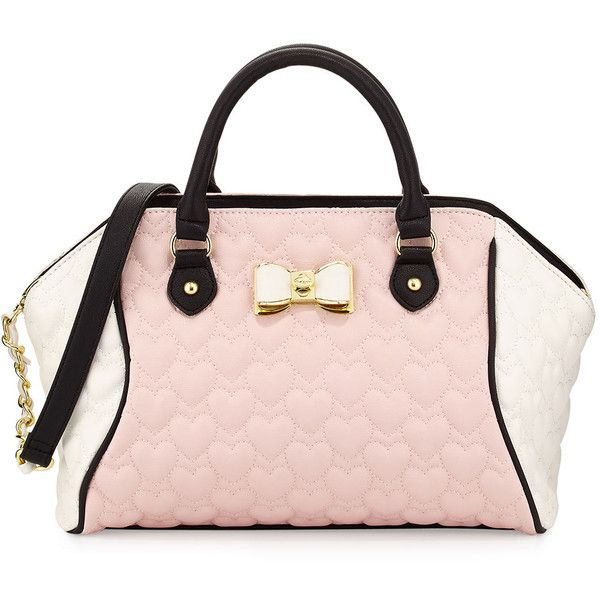 Betsey Johnson Be My Bow Colorblock Large Satchel Bag 60