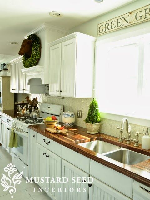 Driven By Décor: Butcher Block Countertops in the Kitchen