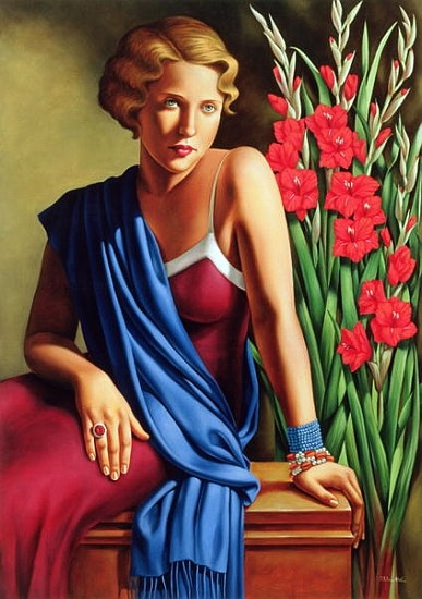 Catherine Abel - Girl with the Scarab Ring (oil on canvas)