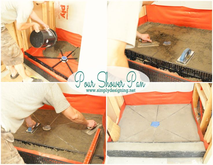 How to Pour a Shower Pan | How to create your own shower pan.