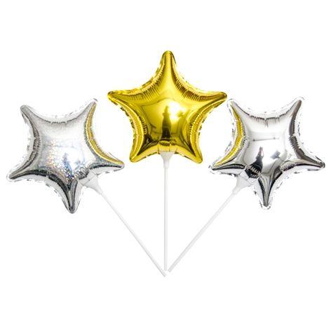 Folieballong STARS. 3-pk