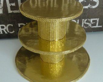 tier bling mini cupcake stand tower display faux rhinestone