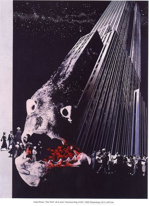 Josep Renau Berenguer, New York, from the series American Way of Life, 1952 — photomontage