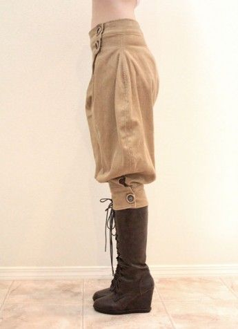 Cropped jodhpurs - Steampunk Couture