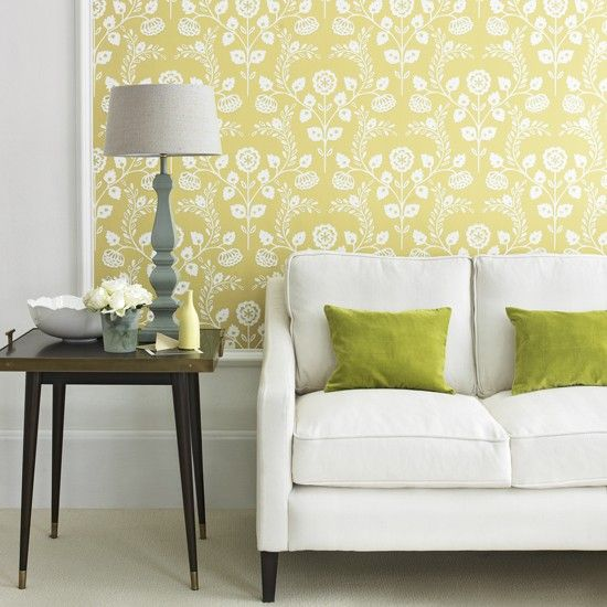 25 best images about love it pastel decorating on for Yellow living room wallpaper