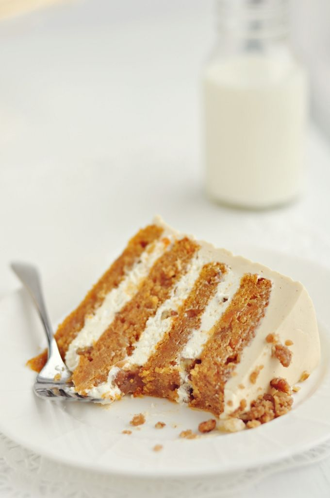 Autumn Delight #Cake... 4-Layer Sweet Potato & Ginger Layer Cake with ...