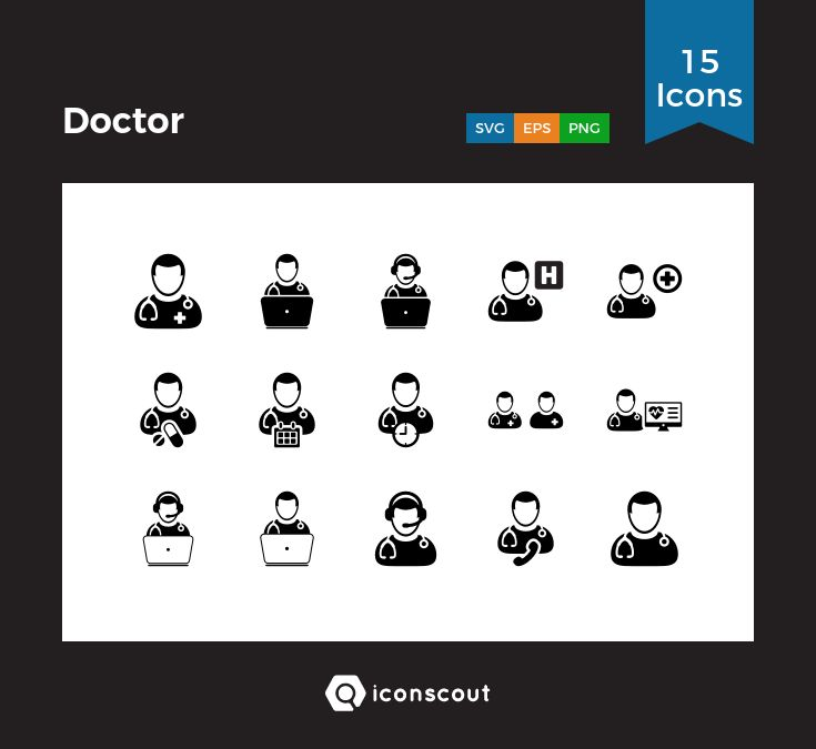 Doctor  Icon Pack - 15 Solid Icons