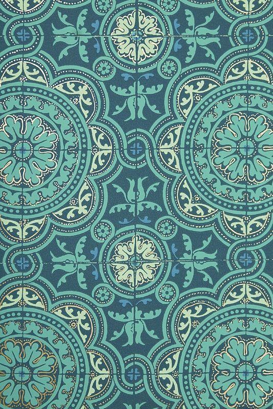 Tile wallpaper in blues