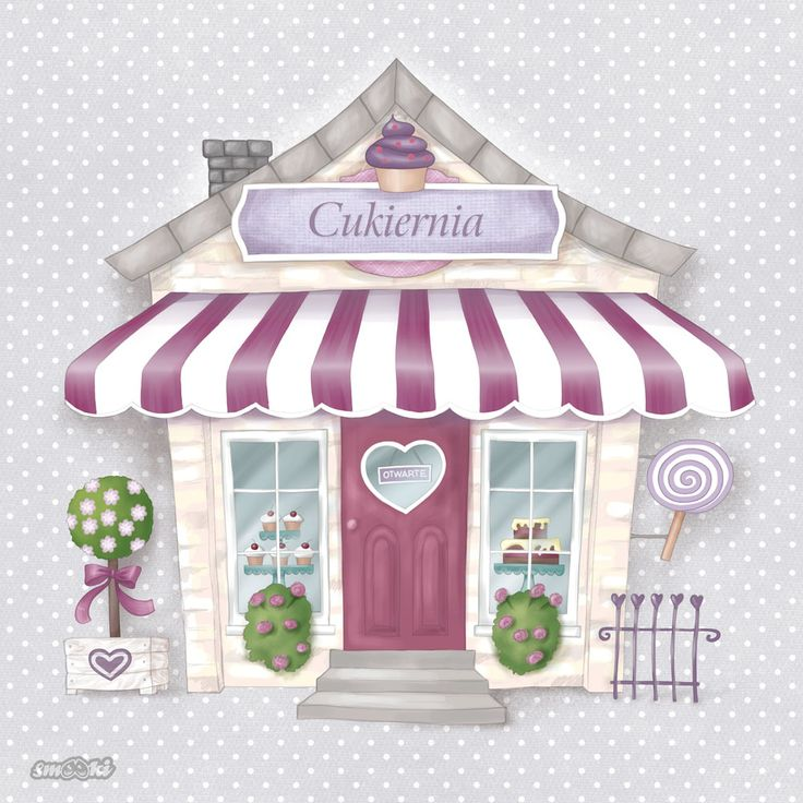 Little Shoppe - cake shop - picture and poster for children - www.smooki.pl