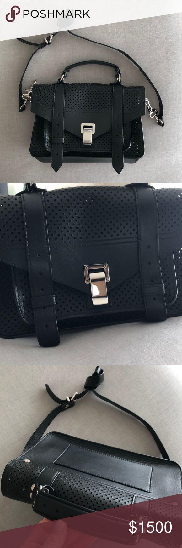 Proenza Schouler perforated ps1 bag Black perforated Proenza Schouler ps1 bag. Worn twice! In perfect condition. Proenza Schouler Bags Shoulder Bags