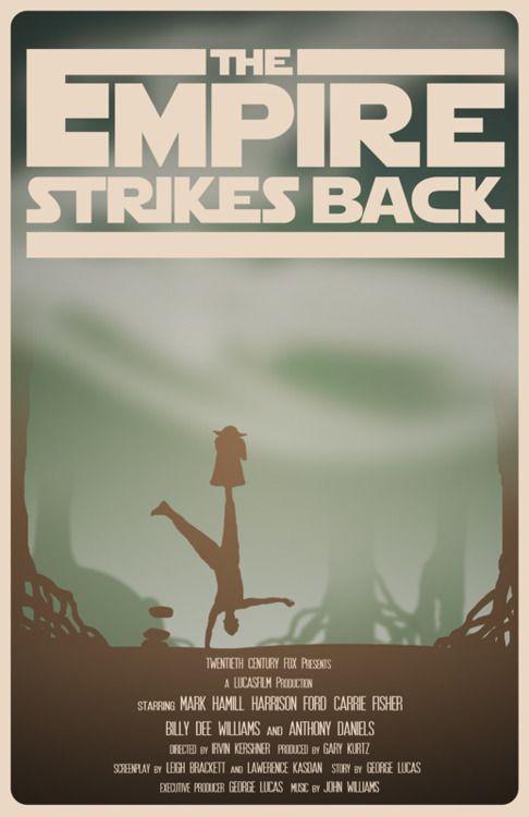 Star Wars Episode V: The Empire Strikes Back by Travis English: War Episode, Minimalist Movie Posters, Movies, Star Wars, Posters Starwars, Posters Stars War, Minimalist Poster, Minimal Movie Posters, Empire Strike