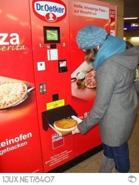 Pizz-o-mat! Probably not the healthiest - but you gotta agree its cool!!