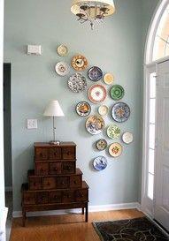 hang plates for a beautiful wall display