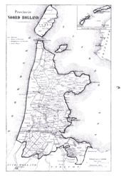 18th century map of northern Holland, including the territory where the Helder Campaign (1799) took place.