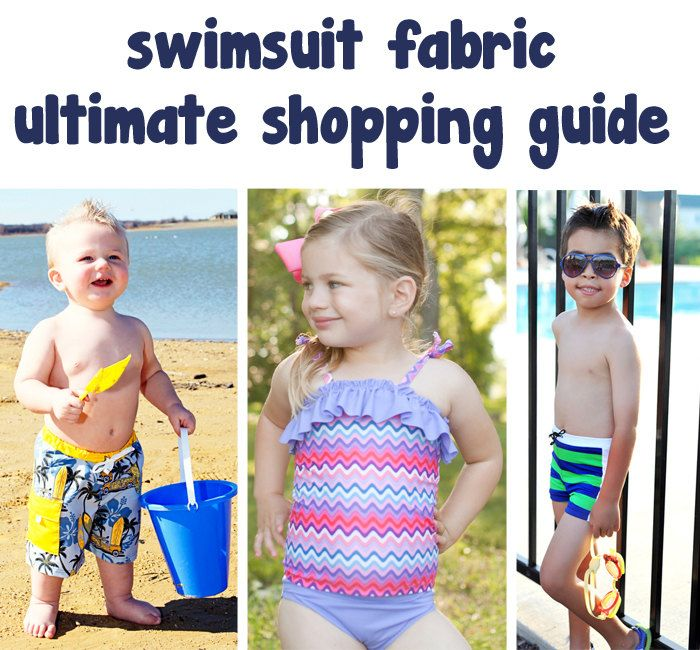 Ultimate Swimsuit fabric shopping guide - with resources and explanation of types.