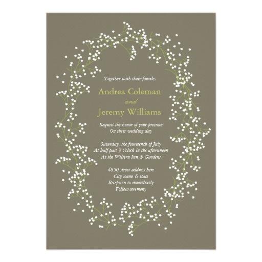 Babys Breath Wedding Invite- Dont like the background colour. ?Something similar…