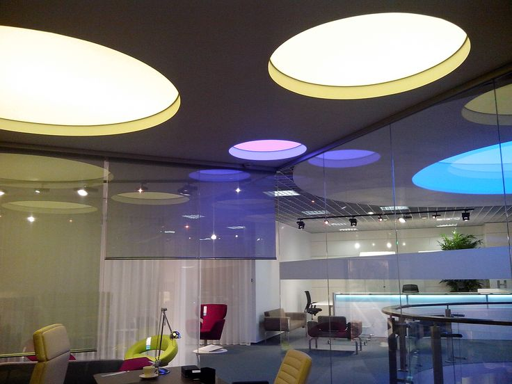 Office ceiling made from Vecta Design stretch ceilings
