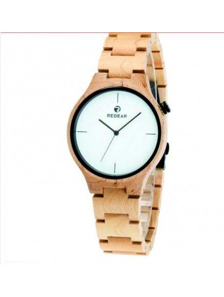 Hölzerne Armbanduhr - CARY Artikel-Nr.:  DH00011 -MAPLE WHITE REDEAR Zustand:  Neuer Artikel  Verfügbarkeit:  Auf Lager  Elegante hölzerne Uhr mit einem einzigartigen Design. Geschenk fit für einen Mann und eine Frau. Uhren sind aus natürlichen Materialien, ohne künstliche Farbstoffe