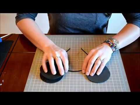 How To Make Mickey Mouse Ears or Minnie Mouse Ears on Headband - YouTube