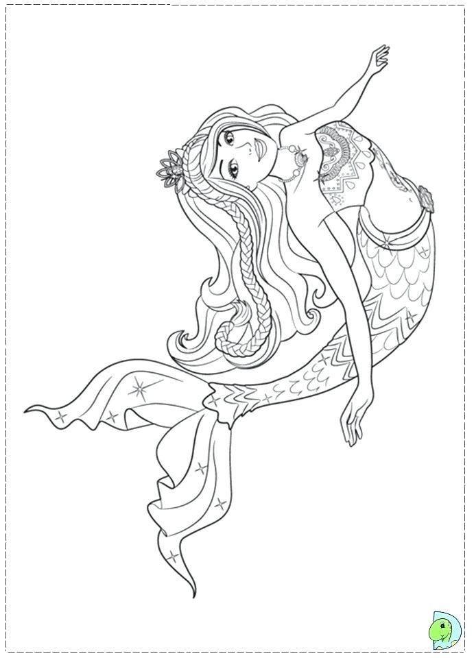Barbie Mermaid Printable Coloring Pages Barbie Coloring Pages Mermaid Coloring Princess Coloring Pages