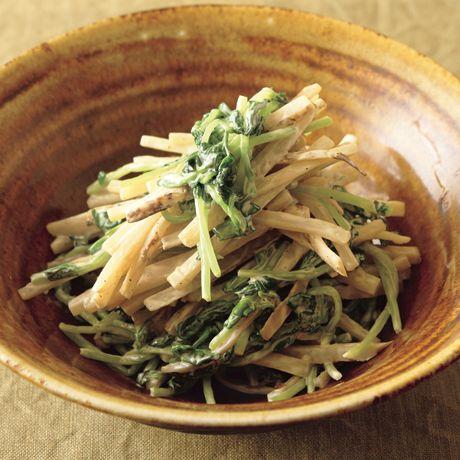 豆苗とごぼうのマヨあえ | 前沢リカさんの小鉢の料理レシピ | プロの簡単料理レシピはレタスクラブニュース