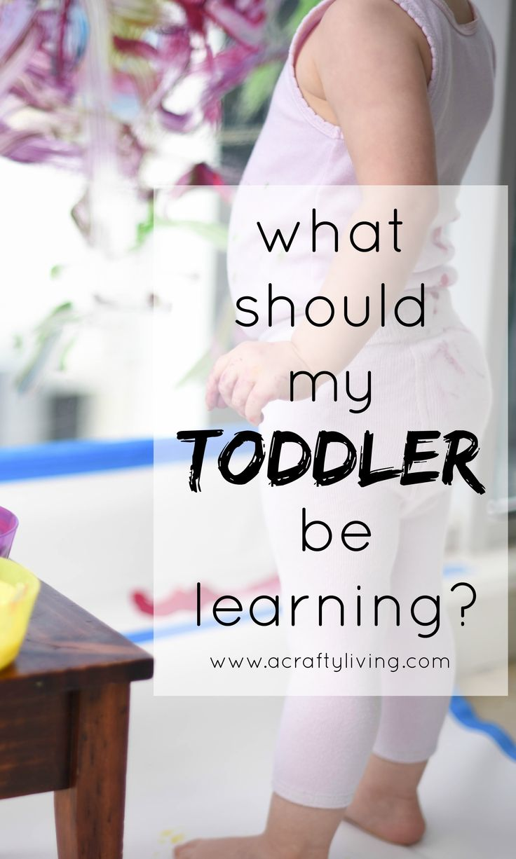 What should my Toddler be Learning? Sharing fundamental Toddler milestones & play ideas to foster and develop the important skills your Toddler will be learning at 12 - 36 months old! www.acraftyliving.com