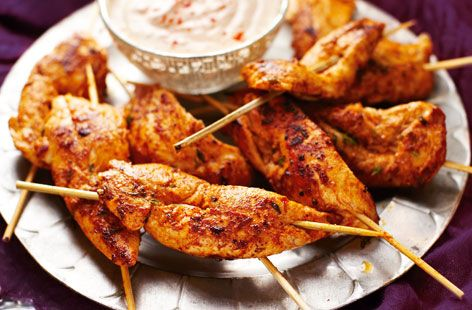 Bursting with flavour these chicken skewers are the perfect party dish & can be made ahead. Find this, & many more Christmas recipes, at Tesco Real Food.