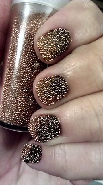 Caviar nails. I love the look & texture of this!!! I gotta get some! ;)