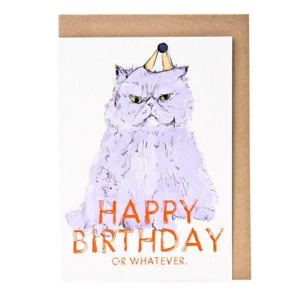 Happy Birthday or Whatever - card by Evie Kemp