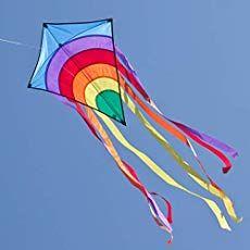 cim kinder-drachen - rainbow eddy blue - einleiner-flugdrachen für kinder ab 3 jahren - 65x72cm