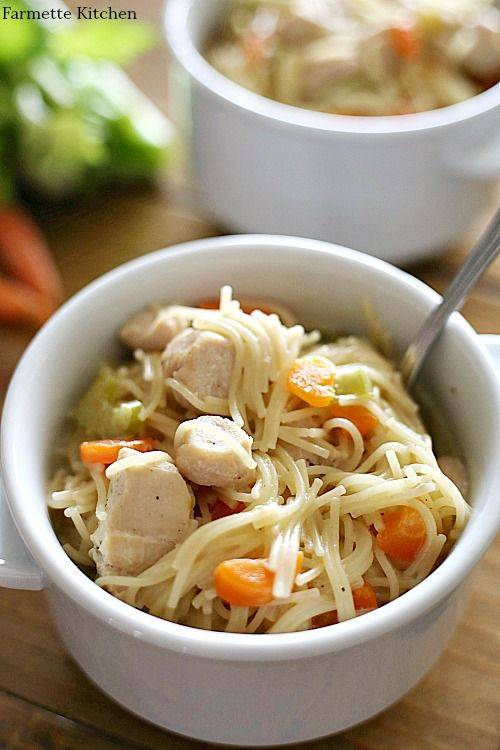 Jun 23, 2020 – This Instant Pot Chicken Noodle Soup is rich, creamy, full of noodles and chunks of chicken. Done in unde…