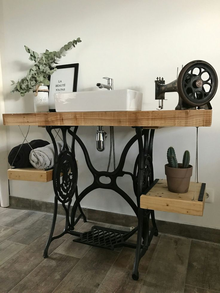 Bathroom cabinet from a singer sewing machine #ba…